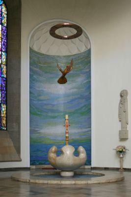 Chrzcielnica w archikatedrze pw. Chrystusa Króla w Katowicach