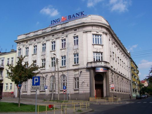 Gmach banku ING w Będzinie