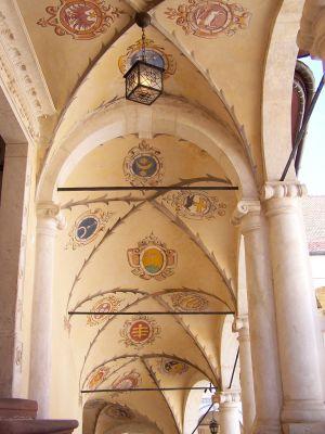 Krużganek pałacu w Baranowie Sandomierskim