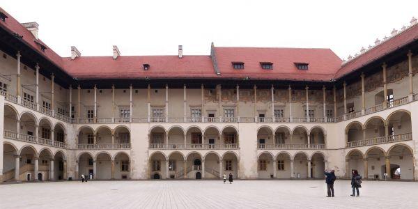 Krużganek zamku na Wawelu w Krakowie