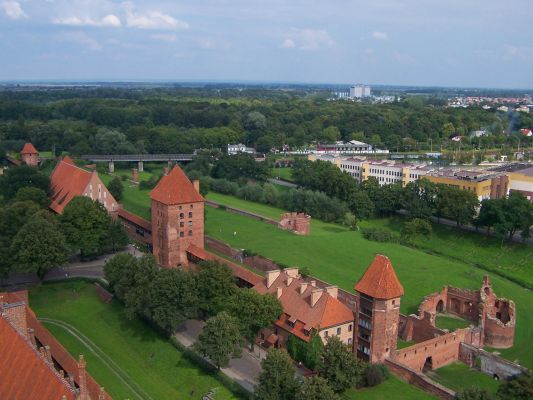 Obwarowania zamku w Malborku