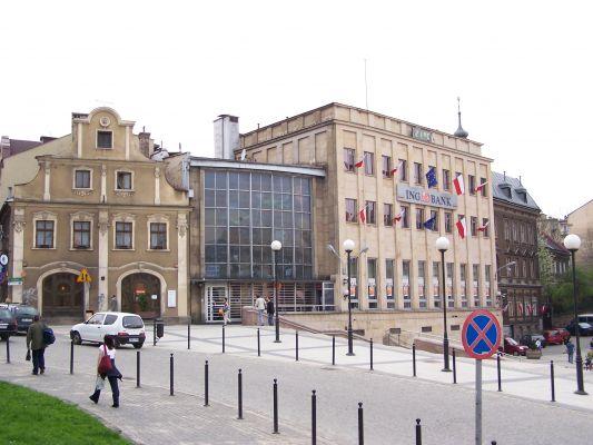 Pl. Chrobrego na Dolnym Przedmieściu w Bielsku-Białej
