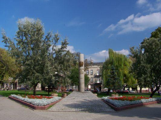 """Pomnik """"Poległym za wolną Polskę"""" w Będzinie"""