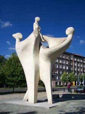 Pomnik Rodzina - plac Grunwaldzki w Katowicach Koszutce