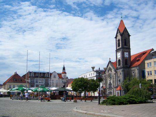 Rynek i kościół Zbawiciela w Tarnowskich Górach