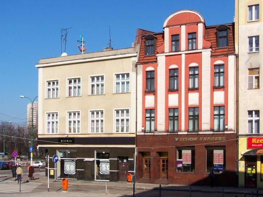 Zabytkowe kamienice przy Rynku w Katowicach