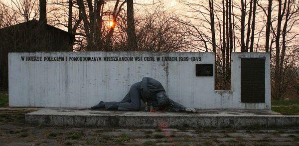 Pomnik poświęcony pomordowanym mieszkańcom miejscowości Cisie