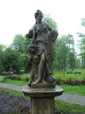 Bachus w parku Miroszewskich w Będzinie