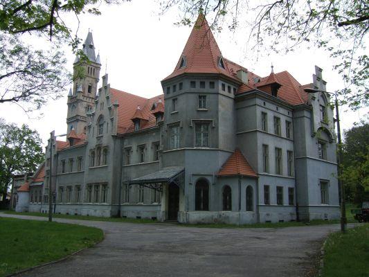 Front pałacu w Nakle Śląskim