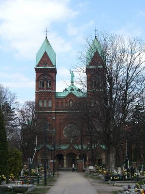 Neoromańska bazylika klasztoru franciszkanów (1903-1908) w Panewnikach