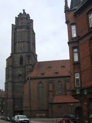 Wieża kościoła Wszystkich Świętych w Gliwicach z XIV w
