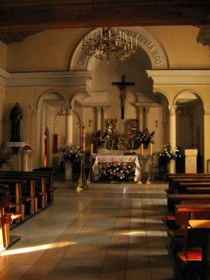 Wnętrze kościoła św. Barbary w Dąbrowie Górniczej