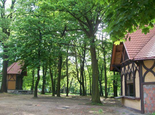 Tychy - park Browarniany z muszlą koncertową i pijalnią piwa z 1899 roku