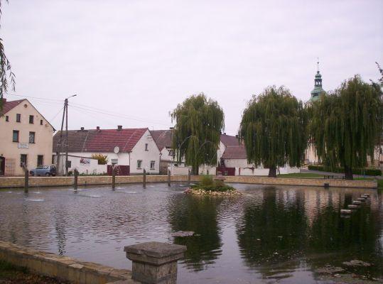Fontanna w centrum Kamienia Śląskiego
