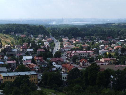 Olsztyn - widok na miejscowość z ruin zamku