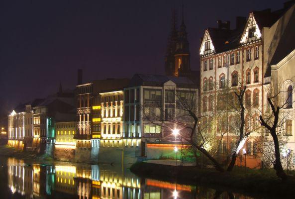 Opolska Wenecja nocą
