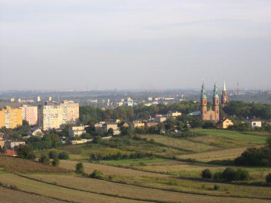 Centrum Piekar Sląskich - widok z Kopca Wyzwolenia