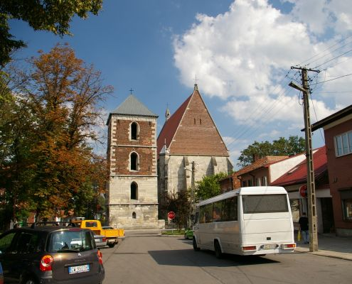 Rynek i bazylika w Wiślicy