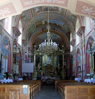 Wnętrze kościoła klasztornego w Opatowie