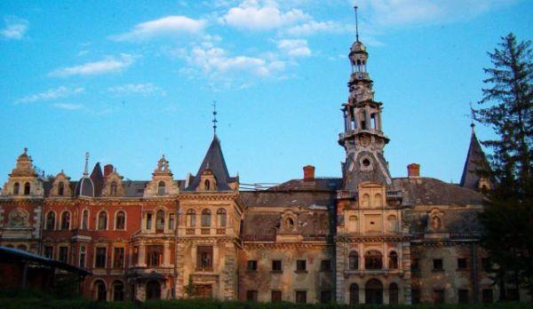 Pałac w Krowiarkach - widok ogólny