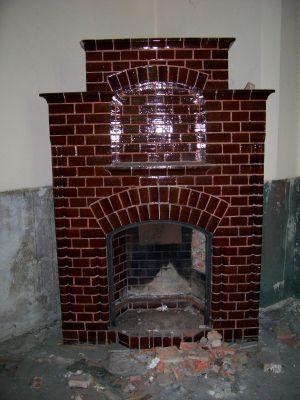 Rudnik: pałac z 1797 roku, kominek kaflowy