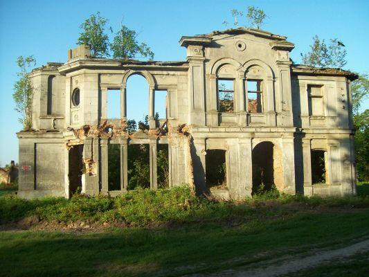 Ruiny pałacu Karskich we Włostowie