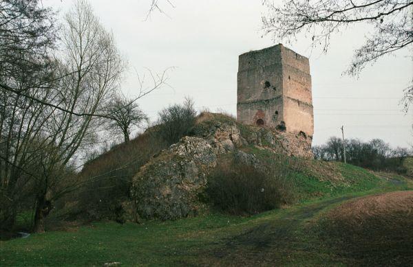 Tudorów, ruiny zamku