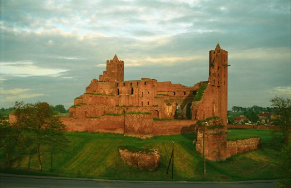 Radzyń Chełmiński, ruiny zamku krzyżackiego