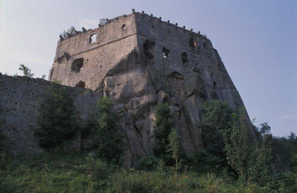 Ruiny zamku Kamieniec - górny zamek