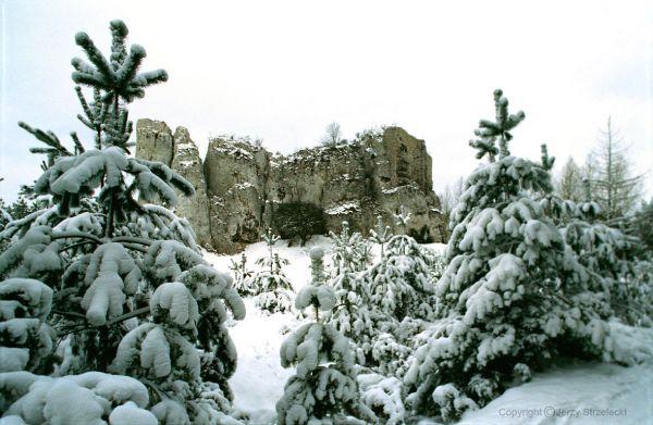 Strażnica Przewodziszowice zimą