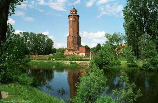 Zamek Krzyżacki w Brodnicy w widok od strony rzeki Drwęcy