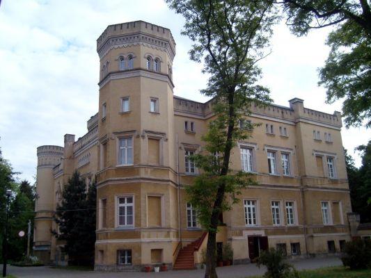Jabłonowo Pomorskie - Zespół pałacowo-parkowy; neogotycki pałac Narzymskich