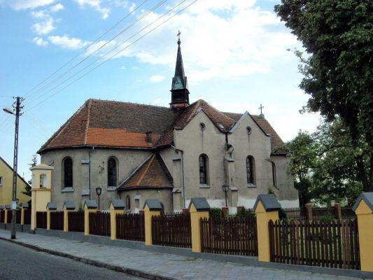 Kościół we wsi Mieścisko