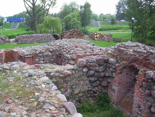Zamek Krzyżacki w Brodnicy - ruiny piwnic zamkowych