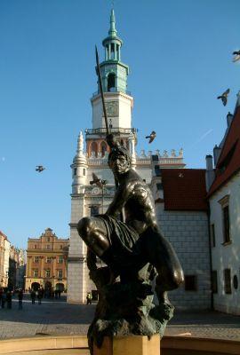 Fontanna Marsa na Starym Rynku w Poznaniu