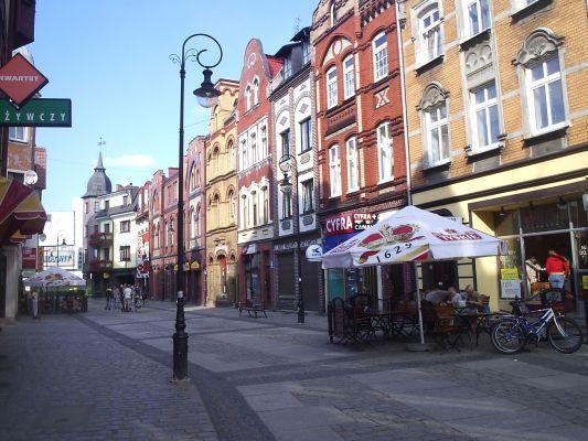 Ulica Staromiejska w Lęborku - deptak
