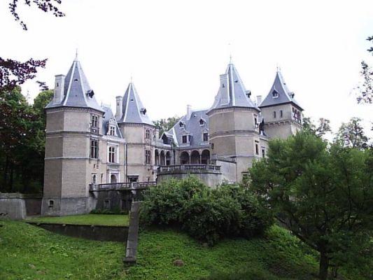 Zamek w Gołuchowie, widok z podzamcza