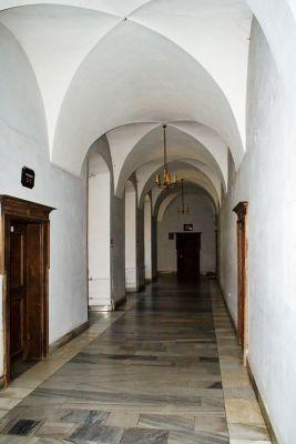 Korytarz w zamku w Kożuchowie