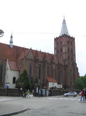 Chełmno, kościół Wniebowzięcia NMP, widok od strony północnej