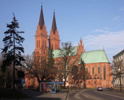 Katedra Wniebowzięcia NMP we Włocławku, widok od ul. Brzeskiej