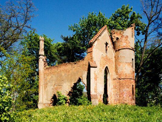 Turzno - Ruiny pawilonu w parku pałacowym