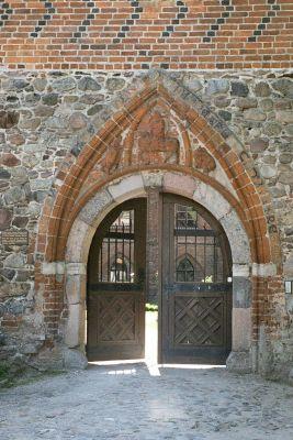 Zamek krzyżacki w Zamku Bierzgłowskim, portal zamku głównego