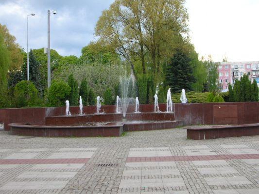 Piła - fontanna na deptaku