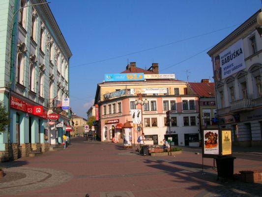 Ulica Krakowska i plac Jana III Sobieskiego w Tarnowie