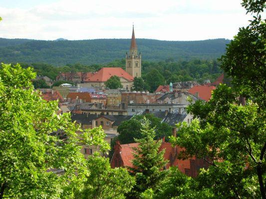 Wałbrzych - widok z Parku Miejskiego