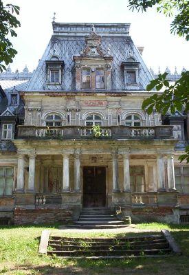 Pałac w Guzowie, widok od strony pólnocnej, wejście głowne