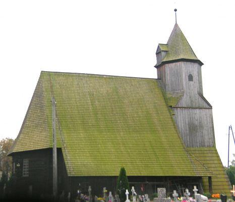 Drewniany kościół, Krzywiczyny koło Wołczyna