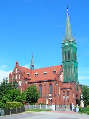 Kościół we wsi Brzeźce