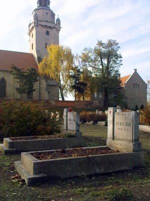 Groby nieznanych żołnierzy Armii Czerwonej poległych w 1945 w Kątach Wrocławskich