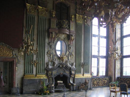 Sala Maksymiliana - jeden z kominków - Zamek Książ